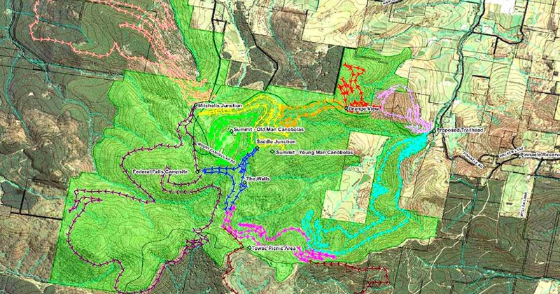 65KM of mountain Bike trails proposed at Mt Canobolas